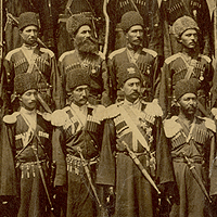 Group of Cossacks in Estarabad